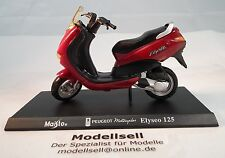 Motor Scooter PEUGEOT elyséo 125 Scooter Scale 1:18 Von Maisto with Stand Plate
