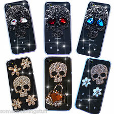 NEW 3D SKULL BLING DELUX DIAMANTE CASE COVER SAMSUNG iPhone SONY BLACKBERRY HTC