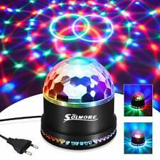Boule Disco,SOLMORE Lampe de Scène Lumière Soirée Fête 12W Ampoules