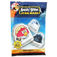 2 x Angry Birds Star Wars Rubber Erasers with Stickers in Party Bag Packaging