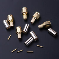 Decor 15x SMA Male Plug Crimp Fit for RG58 RG142 LMR195 RG400 Cable RF Connector