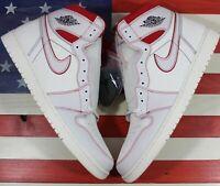 Nike Air Jordan 1 High OG Off-White/Red/Phantom Retro Shoe i[555088-160] Mens 18