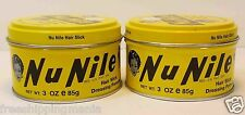 MURRAY'S(MURRAYS) NU NILE HAIR SLICK DRESSING POMADE 2 LOT (3OZ)