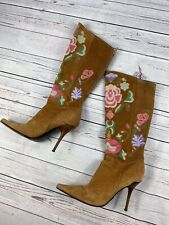 £700 Casadei Boots. Iconic Casadei Suede Boots, Embroidered, size 5,5 UK. 38,5
