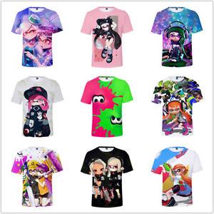 Kid's Splatoon 2 3D printed t shirts Short Sleeved shirt summer tops tshirts