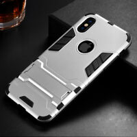 For iPhone X 6s 7 8 Plus Shockproof Rugged Hybrid Rubber Hard Armor Case Cover