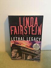 Lethal Legacy by Linda Fairstein (2008) PB Large Print