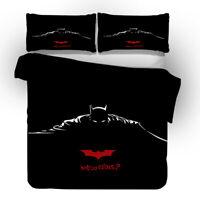 Batman 3D Design Bedding Set 3PC Of Duvet Cover Pillowcase Single Double King