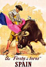 The Fiesta de Toros in Spain Bullfighting Spain  Travel   Poster Print