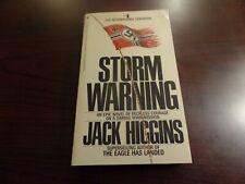 Paperback Storm Warning By Jack Higgins #3806