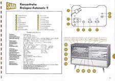 Service Manual-Anleitung für Saba Konzerttruhe Breisgau Automatic 9, 1958/59