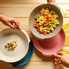 Pasta Bowl 4 Set, Stackable, Eco Friendly Microwave & Dishwasher Safe, Bpa free