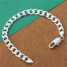 8mm Chain Bracelet/Bangle Sexy Fashion Jewelry Silver Color Men As