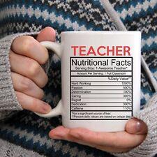 Cute Teacher Mug - Nutritional Facts  Coffee & Teacup - Great Professor Gift