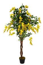 XXL Wisteria JWTC130 Große künstliche mit Echtholzstamm 130cm Kunstpflanze Baum