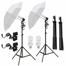 "Uenjoy 61100040 33"" Photo Studio Umbrella Reflector Lamp, Photography Stand with Lighting Kit - White (2 Piece)"