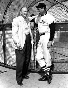 """Ty Cobb & Ted Williams - 8"""" x 10"""" Photo - 1960 - Boston Red Sox"""