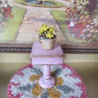 Dollhouse YELLOW DAFFODILS FLOWER BASKET Miniature HANDMADE ARTISAN Artist Made