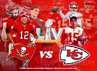 Kansas City Chiefs VS Buccaneers Super Bowl 55 Card. Patrick Mahomes Tom Brady