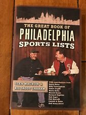 Great Book of Philadelphia Sports Lists Paperback SIGNED BOOK BILLY PIERCE CO
