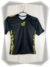 A - Maillot Rugby Noir Jaune Epsport Tribal Numéro 15 Taille XXS Neuf