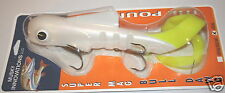 "15"" Super Magnum Bull Dawg Pounder Musky Innovations White Chartreuse Tail Lure"