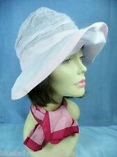 Hut ✿ Rosa ✿ UNIKAT Atelier Netz BAUMWOLLE Cabrio Hat chapeau à large bord