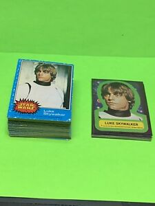 1977 Topps Star Wars Series 1 Blue Complete Set with Sticker Set Ex-Nr-Mint