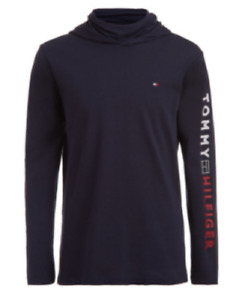 New Tommy Hilfiger Boys Lightweight Facemask Pullover Hoodie MSRP $44.50