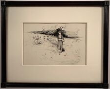Listed Artist Irving Ramsey Wiles (1861-1948) Signed & Exhibited Ink Drawing