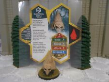 Heroscape Custom Runed Skull Beetle Double Sided Card & Figure w/ Sleeve Aquilla