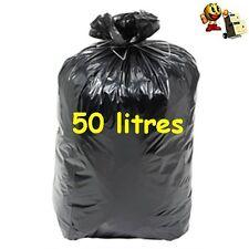 SACS POUBELLE 50 LITRES 200 SACS COLORIS NOIR