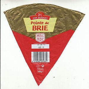 Etiquette de Fromage Pointe de Brie
