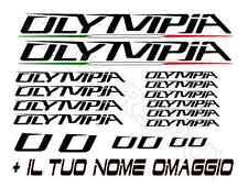 KIT 18 ADESIVI PRESPAZIATI BICI  OLYMPIA NEW STICKERS OLYMPIA  (2)