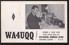 Postcard Savannah GA Ham Radio Operator 1960's