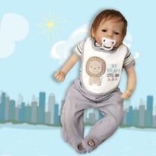 22inch Baby-Puppen-Mädchen-Jungen-neugeborenes weiches Geschenk NEU~#