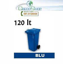 Cassonetto/Contenitore/Bidone per raccolta rifiuti uso esterno 120lt blu