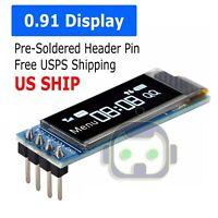 0.91'' 128x32 IIC I2C White OLED Display DIY Module DC3.3V 5V For PIC Arduino