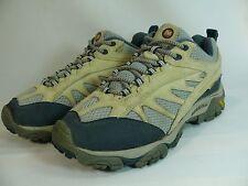 Women's MERRELL Shoe Size US7/EUR37.5 Gray Beige Athletic Sneakers Vibram Soles