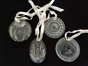 Waterford Crystal Disk Ornaments Times Square Collection: 2001 - 2004 MIB!
