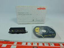 AU592-0,5# Märklin mini club Z/DC Vagón contenedor Navidades CD Bach, NUEVO+OVP