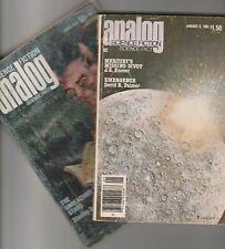 F Paul Wilson rarities - Analogy Magazine Apr July 71 Jan 81 - short story in ea