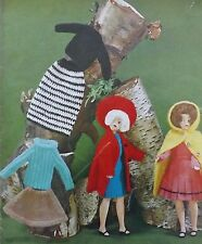 "Vintage Hand Knitting/Crochet Pattern 12"" Teenage Barbie/Sindy Type clothesW667"