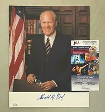 President Gerald Ford Signed 8x10 Photo Autographed Auto Jsa Coa