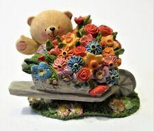 Forever Friends :Hallmark ;  Bear with flowers wheelbarrow
