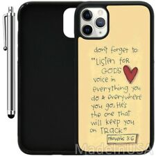 Case For iPhone 11 Pro MAX XR XS MAX 7 8 Plus 6 Plus-Bible Verse Proverbs 3-6