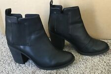 H&M DIVIDED WOMEN SHOES HEELS ANKLE BOOTS SIZE 5UK 38E black