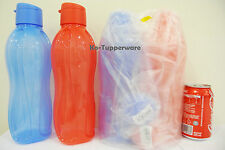x4 Tupperware H2O On The Go Eco Water Drink Bottle Sport Flip Top Cap 1.0L