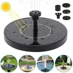 Solar Powered Floating Pump Water Fountain Birdbath Pond Pool Garden Home Lots