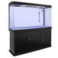 Aquarium à bords Noir de 300 Litres avec Meuble de Support Noir